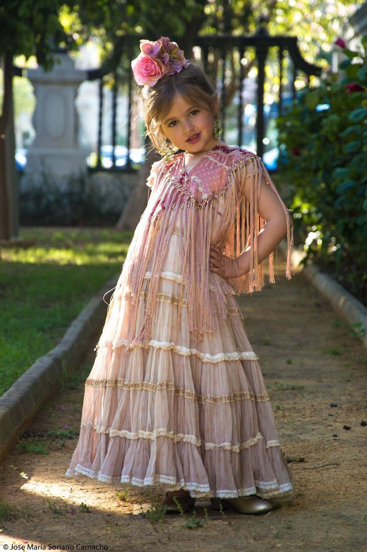 Spanish girl in flamenco dress #Spain