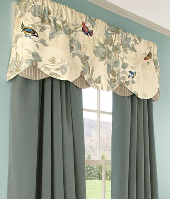 Aviary Lined Layered Scalloped Valances I Covet This I Have Received A Sample And The Bird