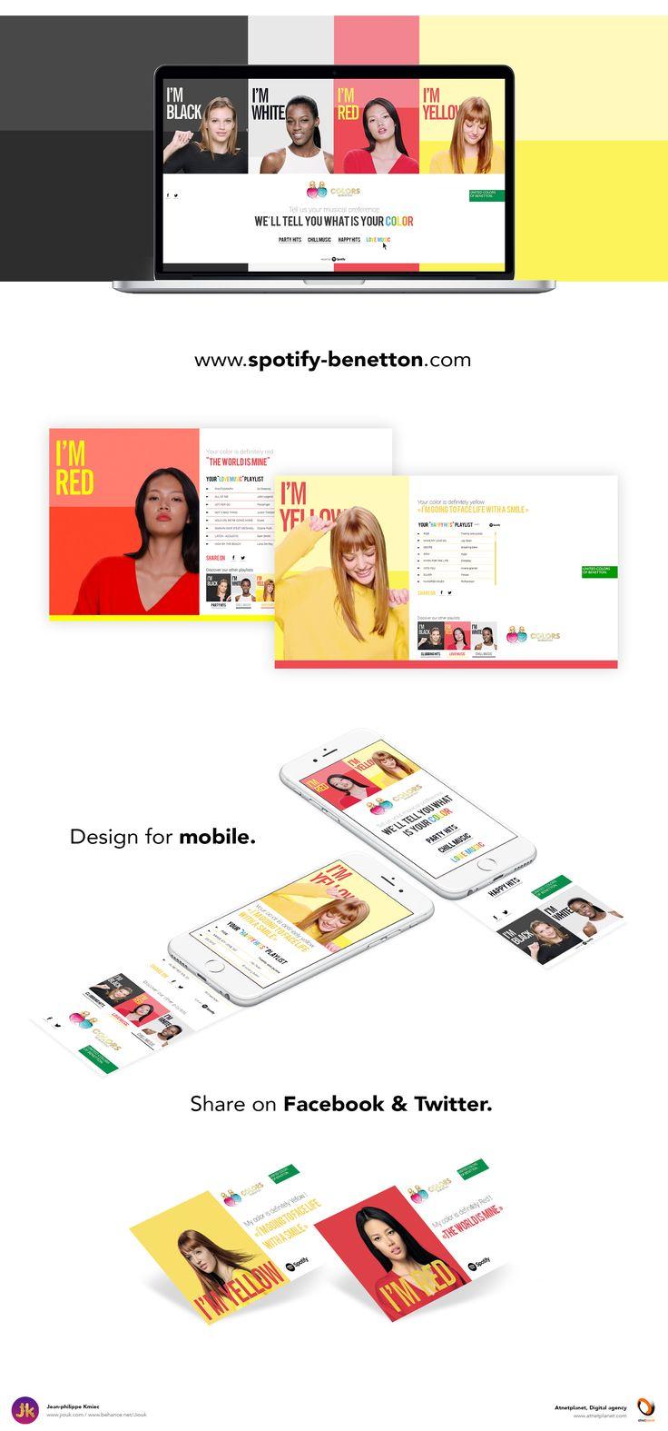 Pour le lancement de la nouvelle campagne, Benetton sort un mini site en collaboration avec Spotify pour faire la promotion des nouveaux parfums !