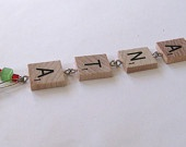 Found Object Scrabble Letter, Wire & Beads! Just My Style Jewelry