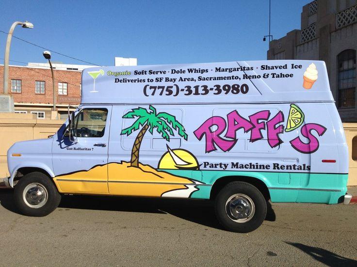 The RaffVan - soft serve ice cream machine rental