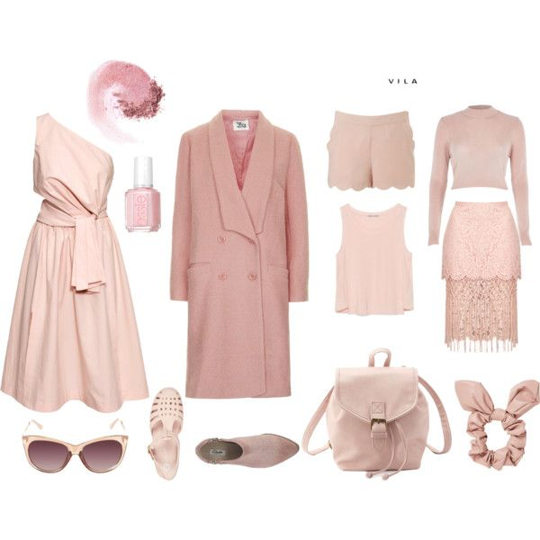 blush by sarahohbaby on Polyvore featuring H&M, River Island, Zara, Topshop, VILA, Charlotte Russe, NARS Cosmetics, Essie, Spring and Pink