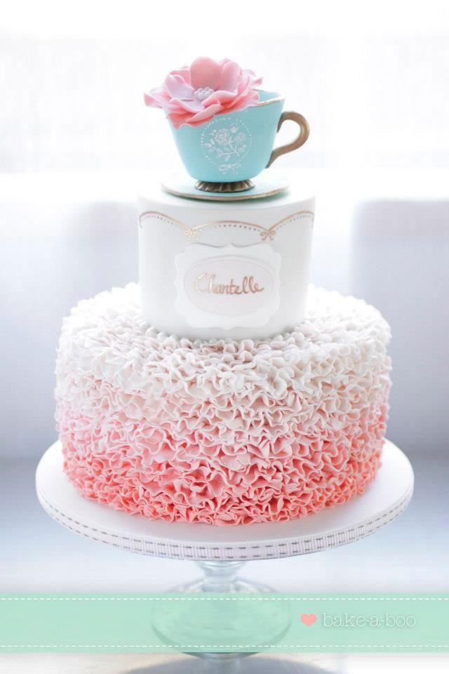 Tea Party Cake Ideas Pinterest