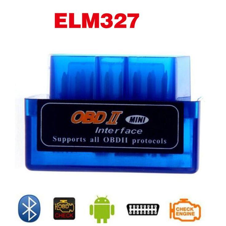 Terbaru V2.1 Bluetooth Super Mini ELM327 OBD II Antarmuka Auto mobil elm 327 OBD2 Mobil Diagnostik Scanner Untuk Android Laptop alat