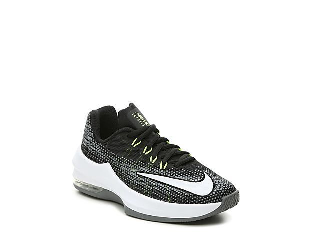 Boys Air Max Infuriate Youth Basketball Shoe -Black/White