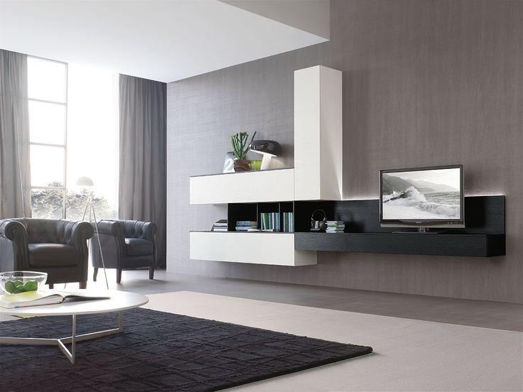 Mobili per soggiorno: composizione C101  gruppotomasella.it  Living Moderno  Pinterest ...