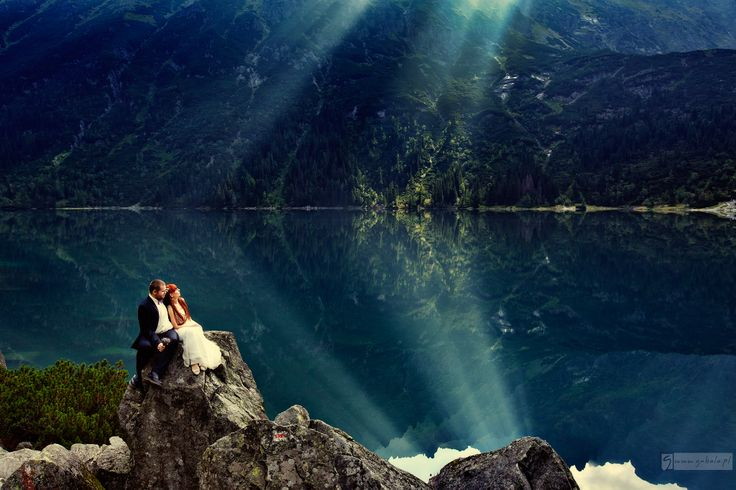 outdoor wedding session in Tatra mountains