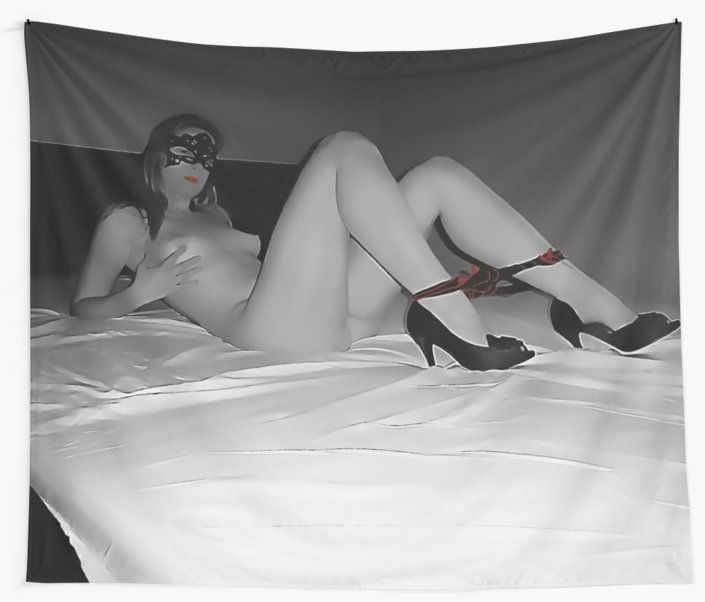 Sexy posing at the bed, slave girl BW with red 2 by casemiroarts Also Available as T-Shirts & Hoodies, Men's Apparels, Women's Apparels, Stickers, iPhone Cases, Samsung Galaxy Cases, Posters, Home Decors, Tote Bags, Pouches, Prints, Cards, Mini Skirts, Scarves, iPad Cases, Laptop Skins, Drawstring Bags, Laptop Sleeves, and Stationeries #sexy #erotic #art #naughty #kinky