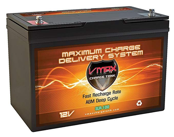Vmaxtanks Vmaxslr100 Agm Sealed Deep Cycle 12v 100ah Battery For Use With Pv Solar Panel