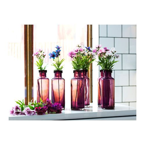 MEDVETEN Vase IKEA The glass vase is mouth blown by a skilled craftsperson.