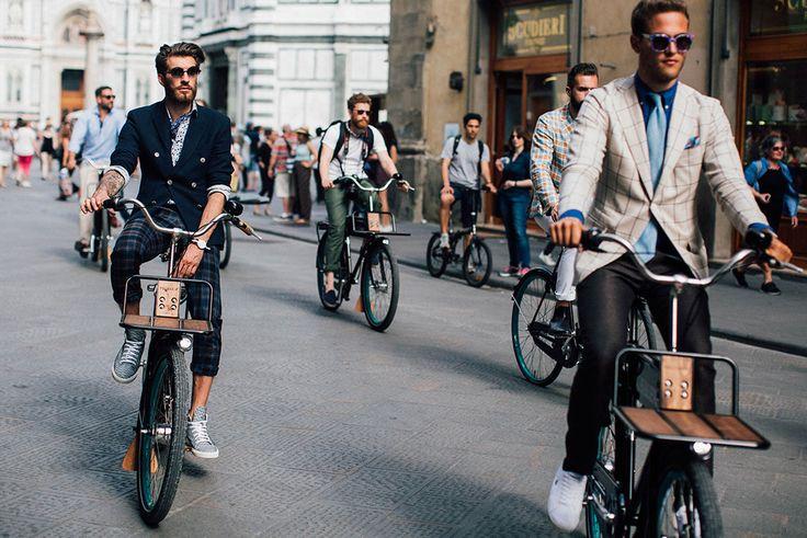 Street looks au Pitti Uomo printemps-été 2017 à Florence