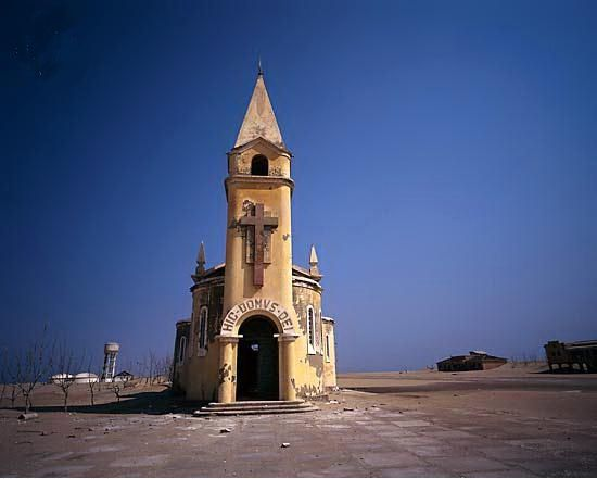 Deserted Catholic Church - This makes me sad for what was and what could have been. Baia dos Tigres, Angola