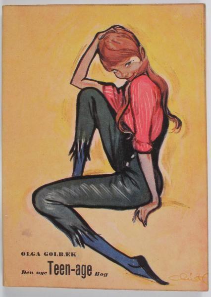Da skønheds-eksperten Olga Golbæk i slutningen af 1950'erne genudgiver sin håndbog til teenagere er den naturligvis illustreret af Christel.