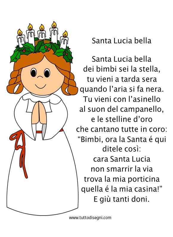 Filastrocca Santa Lucia bella - TuttoDisegni.com