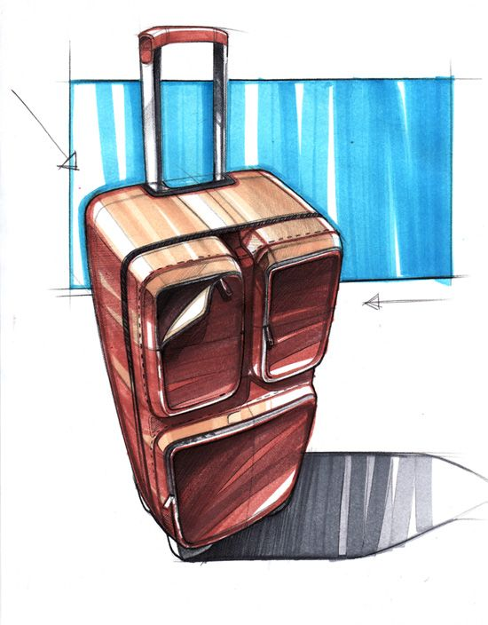 juanorozco620:    Luggage Sketch by Spencer Nugent @idsketching.com