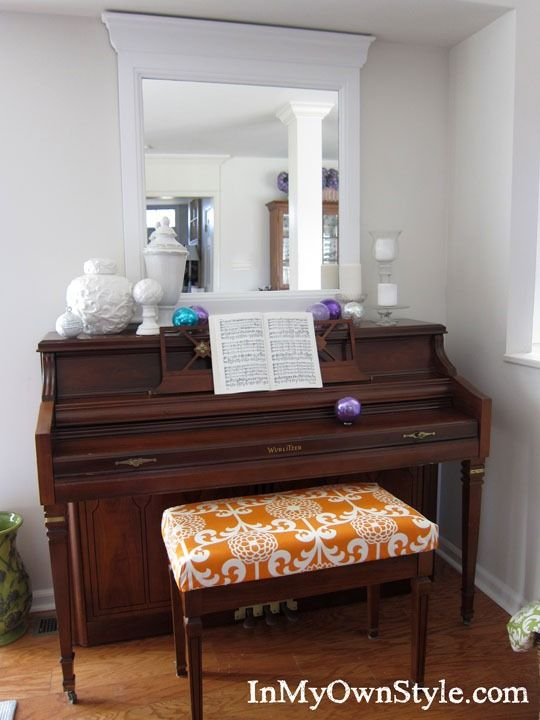 70 best images about above piano decor on pinterest miss mustard seeds white piano and empty. Black Bedroom Furniture Sets. Home Design Ideas
