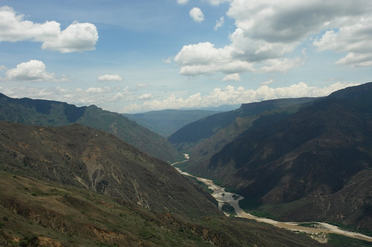Chicamocha Canon, Santander. A 6.3km long cable car runs across it – the longest of its kind in South America. It is also a region for adventure, surprises and excitement.