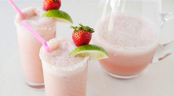Strawberry-Coconut Coladaritas
