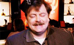 dancing drunk ron swanson #gif from #giphy