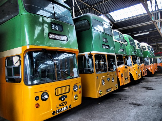 Glasgow Corporation Buses, Bridgeton Bus Garage, Glasgow.