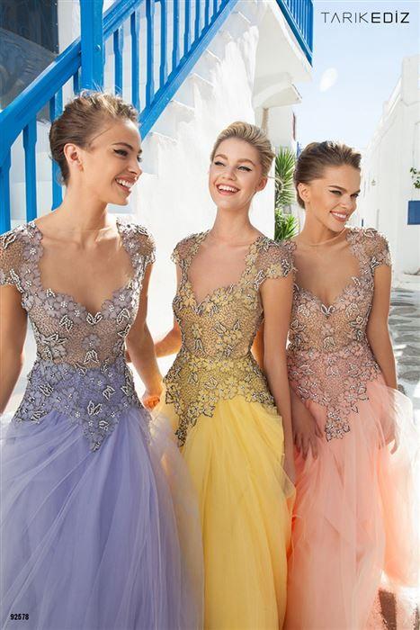 Βραδινά φορέματα Tarik Ediz άνοιξη καλοκαίρι 2015