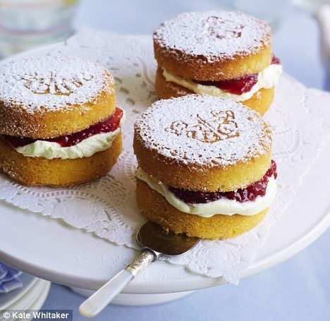 Mini Victoria sponges - went down well for afternoon tea
