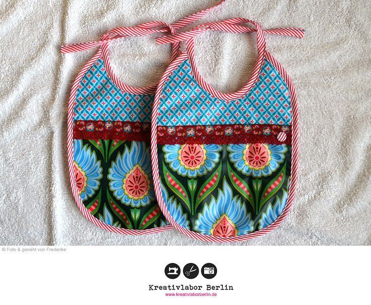 Baby-Lätzchen  Kostenloses Schnittmuster: http://www.kreativlaborberlin.de/naehanleitungen-schnittmuster/suesse-baby-laetzchen-in-3-varianten/