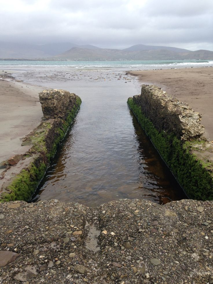 Cloudy beach in Ireland