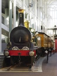 7949 Locomotive, steam, No. 1, hauled the first passenger train in New South Wales in 1855, made by Robert Stephenson and Company, Newcastle-on-Tyne, England, 1854 - Powerhouse Museum Collection