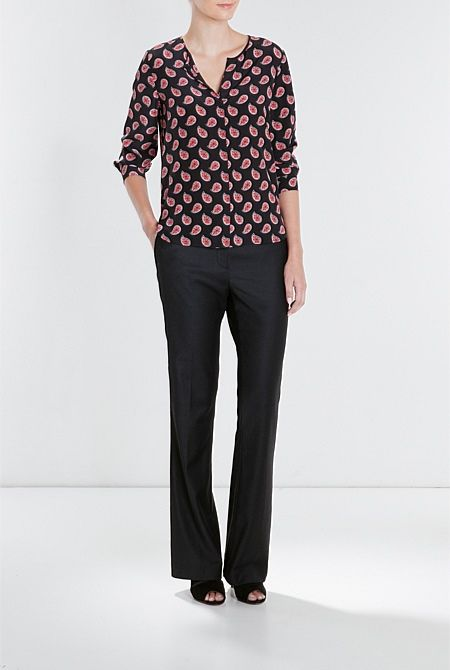Tailored Flared Trouser