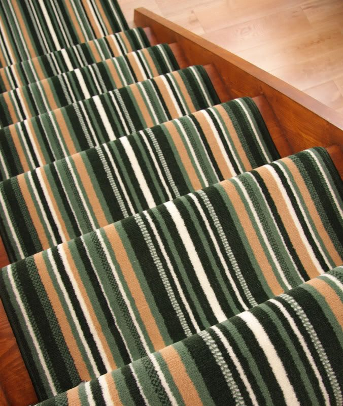 Best Lima Green Stripe Extra Long Runner Rug Wide Narrow Stair 400 x 300