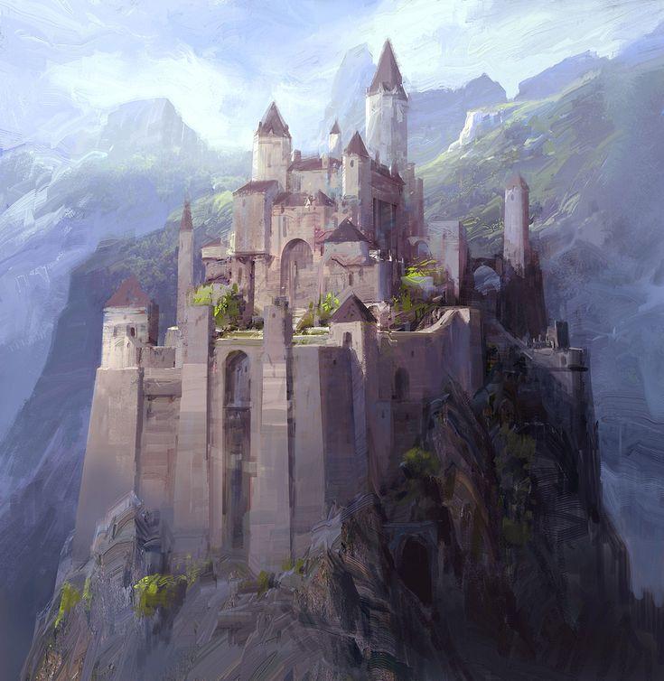 medieval castle anime Ireland in 2020 Fantasy castle Fantasy city Fantasy landscape