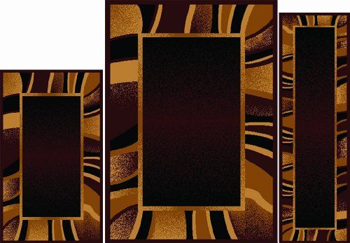 Home Dynamix   Ariana Collection   3-Piece Area Rug Set - Ultra Soft & Super Durable   7542-500    Brown