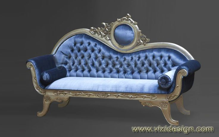 Victorian Antique Sofa Silver French Furniture