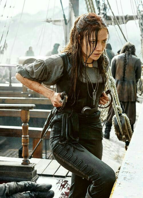 She would show them. She was just as strong as the rest of the crew.
