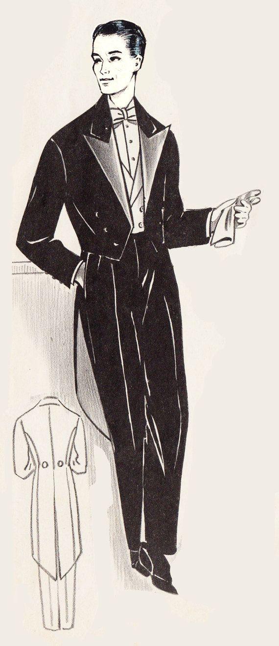 Dit is een digitale, ontwerp-at-home patroon voor een mannen Tuxedo formeel diner jas en broek. Hieronder vallen niet de met de vest en strikje zoals geïllustreerd. De jas beschikt over lange vacht van de staart en gedraaide revers.  Dit is een patroon van een Franse patroon systeem vrij gelijkaardig aan de gouden regel-patronen van Goynuk opstellen. U zal zitten kundig voor ontwerp van een patroon naar uw exacte grootte van de miniatuur patroon sjabloon en speciaal ontworpen heersers. Om…