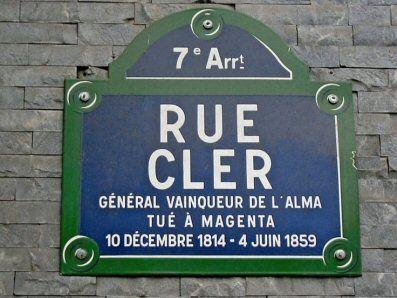 Rue Cler... tué à Magenta  (Paris 7ème).
