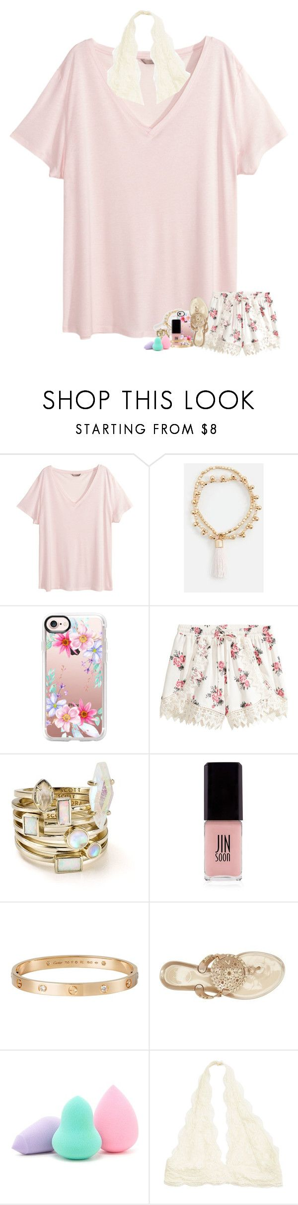 """& maybe we'll work it out"" by madelinelurene ❤ liked on Polyvore featuring H&M, JustFab, Casetify, Kendra Scott, JINsoon, Cartier, Jack Rogers and Forever 21"