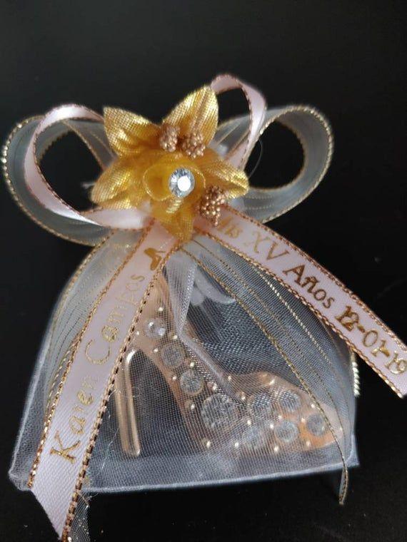 12 QUINCEANERA PRINCESS PARTY FAVORS GOLD SLIPPER KEYCHAIN WEDDING RECUERDOS