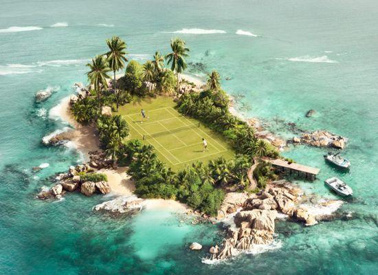 Un court de tennis sur une ile déserte !! Le rêve non ? #tennis #seulaumonde #liberté