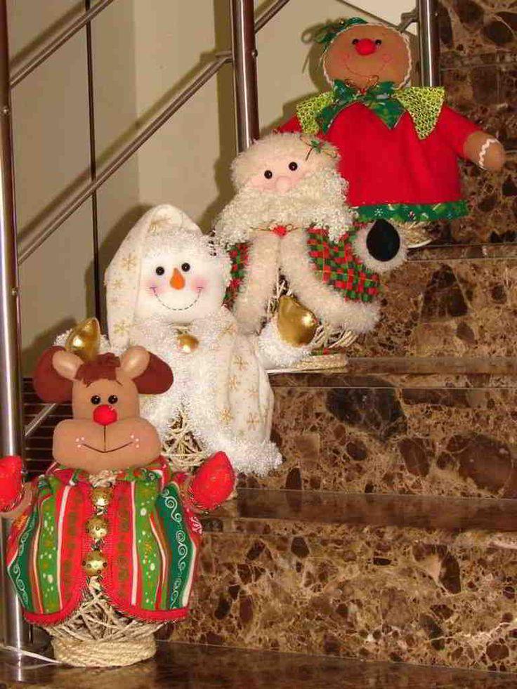Esta es la colección de patrones y moldes de muñecos de navidad que…