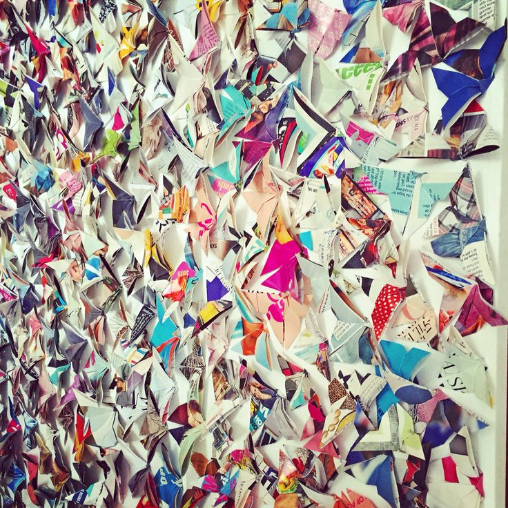 butterflies made from old woman magazines