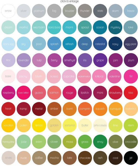"The ""names"" are arbitrary, but it's just a reminder how much I love color."