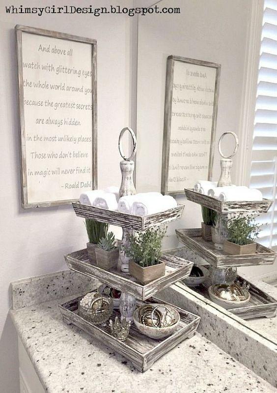 Dekor für das Badezimmer: 6 Meisterklassen #Bad #Dekor #Mehr …   – Deko