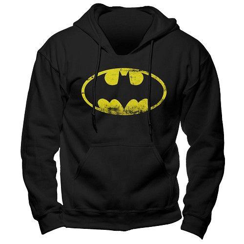 Batman - Logo hoodie trui met capuchon zwart - XXL - Merchandise superheld
