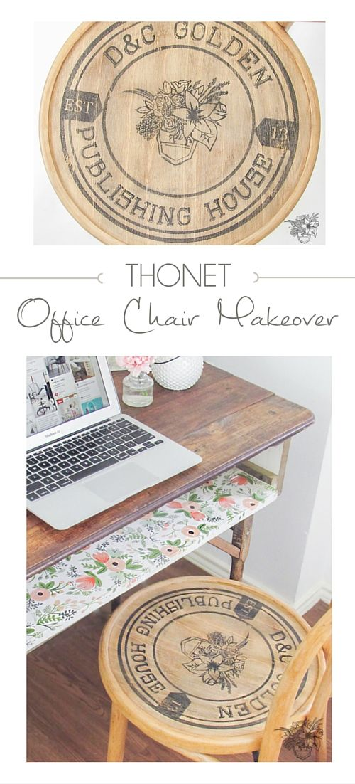 How To Apply Custom Graphic To Chair Seat   Thonet Office Chair Makeover