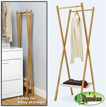 Bamboo Folding Garment Rack traditional laundry products