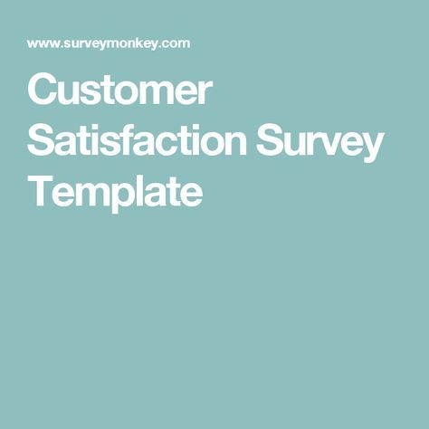 Best 25+ Survey template ideas on Pinterest Student survey - free customer satisfaction survey template