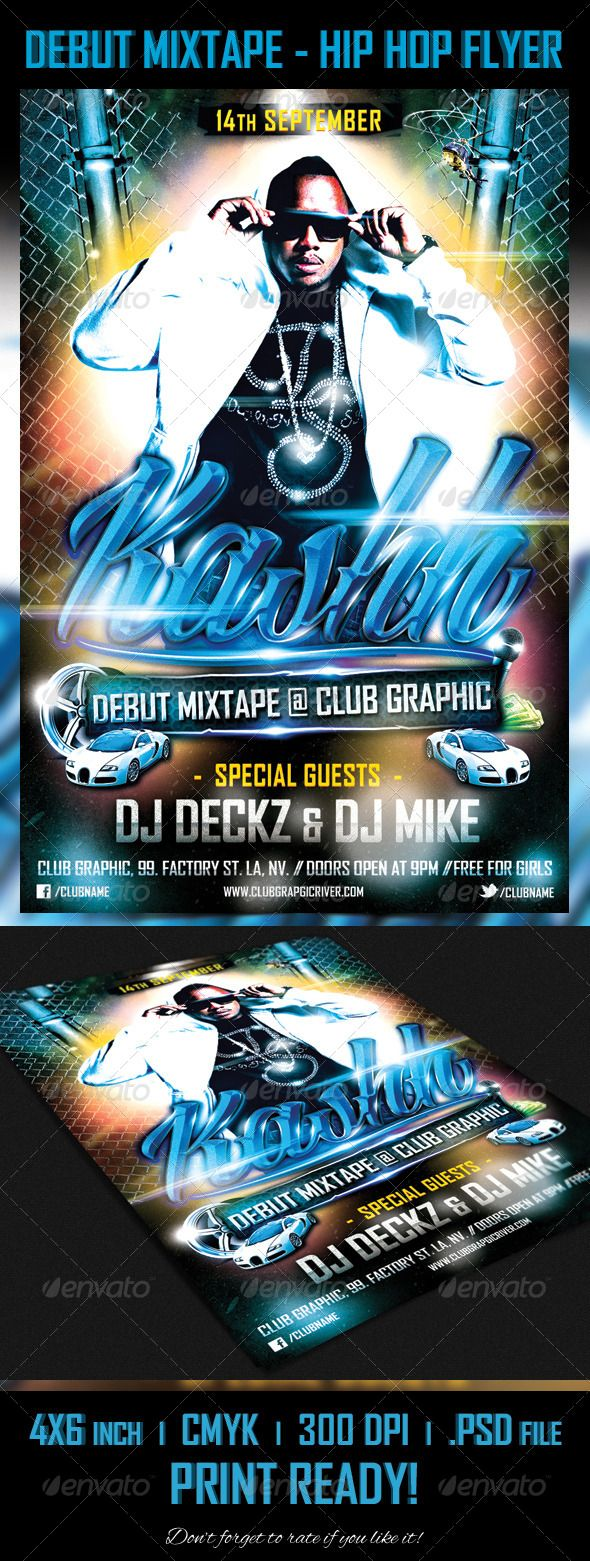 Hip Hop Flyer Templates Psd 60 Free Psd Poster And Flyer Templates