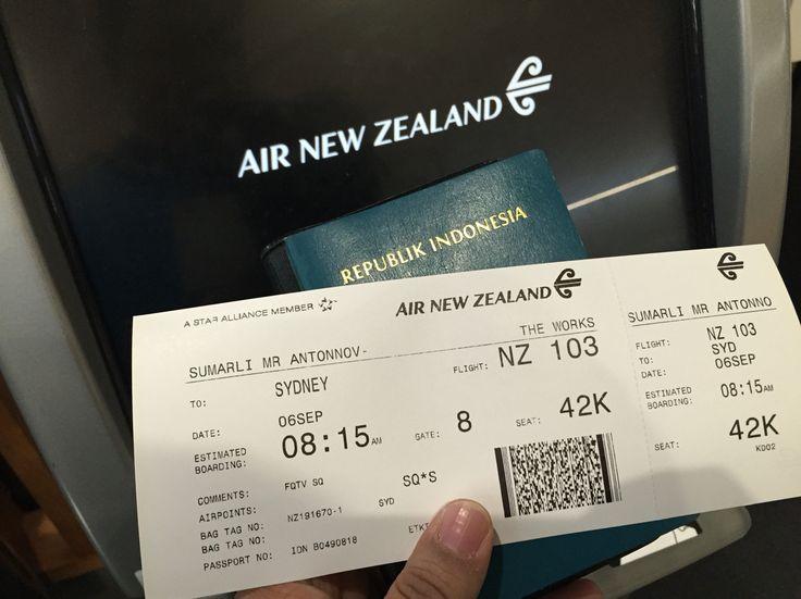 Auckland - Sydney  NZ 103 / 6 SEP 2015